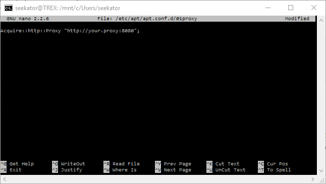 proxy configuration for apt-get